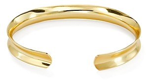 Argentovivo G Flat Bold Cuff Bracelet in 18K Gold-Plated Sterling Silver