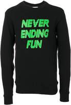 Tim Coppens printed slogan sweatshirt
