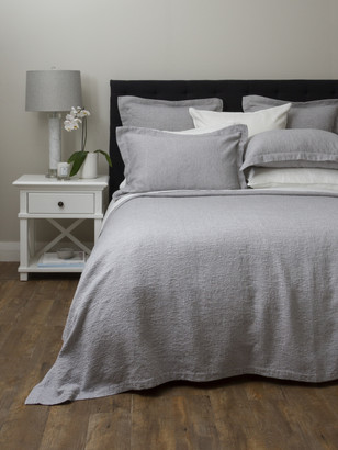 Wallace Cotton - King Size Avalon Bed Cover - king | cotton | grey - Grey/Grey