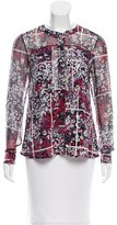 Timo Weiland Floral Print Button-Up Top