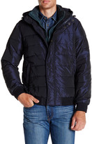 Scotch & Soda Quilted Hooded Bomber Jacket