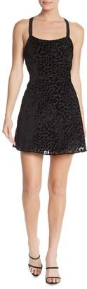 re:named apparel Burnout Mini Dress
