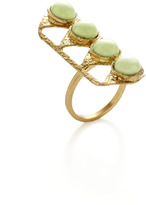 Lulu Frost Lemon Chrysoprase Dreamlink Ring