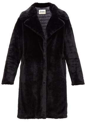 Herno Padded Faux Fur Coat - Womens - Black