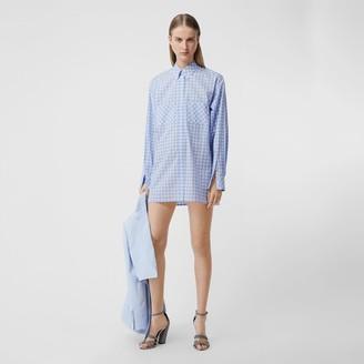 Burberry Gingham Cotton Poplin Shirt Dress