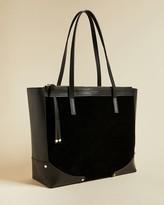 Ted Baker Folded Corner Detail Leather Shopper