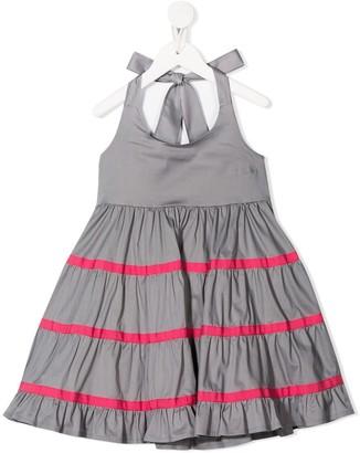 Piccola Ludo Stripe Detail Tie Back Dress