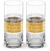 Michael Wainwright Truro Gold Highball Glass, Set of 2