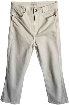 KHAITE Ecru Denim - Jeans Trousers