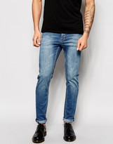 Cheap Monday Jeans Tight Skinny Fit Rise Above Mid Blue