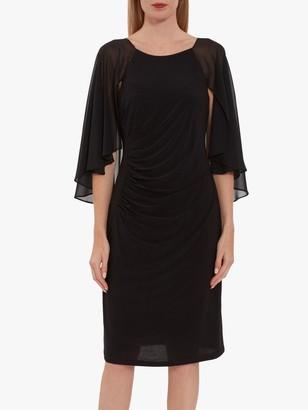 Gina Bacconi Jarielle Jersey Cape Sleeve Dress
