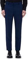 Alexander McQueen Women's Wool Slim Trousers-BLUE