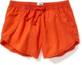 Old Navy Pom-Pom-Trim Tulip-Hem Shorts for Girls