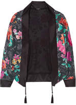 Etro Floral-print Burnout-chiffon Jacket - Black