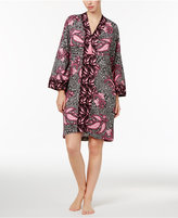 Charter Club Mixed-Print Short Caftan, Only at Macy's