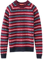 Joe Fresh Men's Jacquard Sweater, Red (Size M)