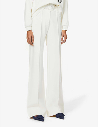 Victoria Victoria Beckham Belted wide-leg high-rise woven trousers