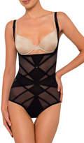 Nancy Ganz NEW 'Sheer Decadence' Underbust Bodysuit W3085 Black