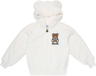 MOSCHINO BAMBINO Stretch-cotton fleece hoodie