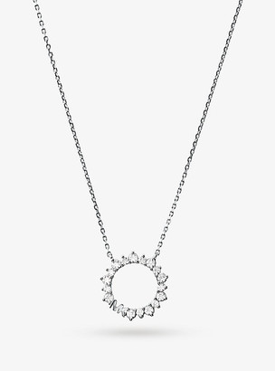 Michael Kors Precious Metal-Plated Sterling Silver Pave Halo Necklace - Gold