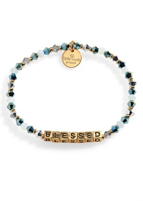Little Words Project Blessed Beaded Stretch Bracelet