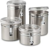 Oggi OggiTM Airtight Stainless Steel Canisters with Acrylic Tops (Set of 4)
