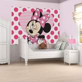 Graham & Brown Pink White Black Minnie Mouse Digital Mural