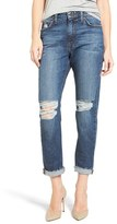 Joe's Jeans Women's Debbie High Waist Ripped Boyfriend Jeans