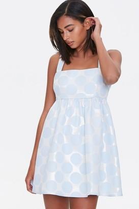 Forever 21 Metallic Polka Dot Fit Flare Dress
