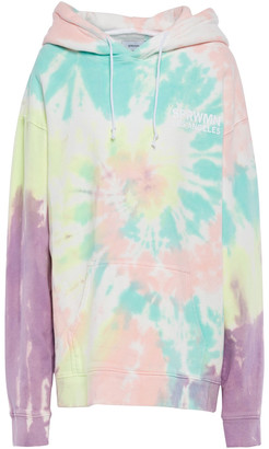 Sprwmn Tie-dyed French Cotton-terry Hoodie