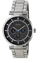 Simplify Stainless Bracelet Watch with Black Di