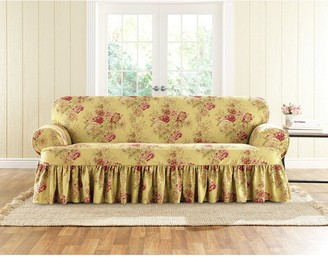 Sure Fit Ballad Bouquet 1 Piece T-Cushion Sofa Slipcover