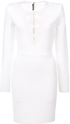 Balmain Lace-Up Dress