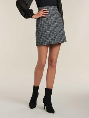 Forever New Bethany Boucle Mini Skirt - Navy - 12