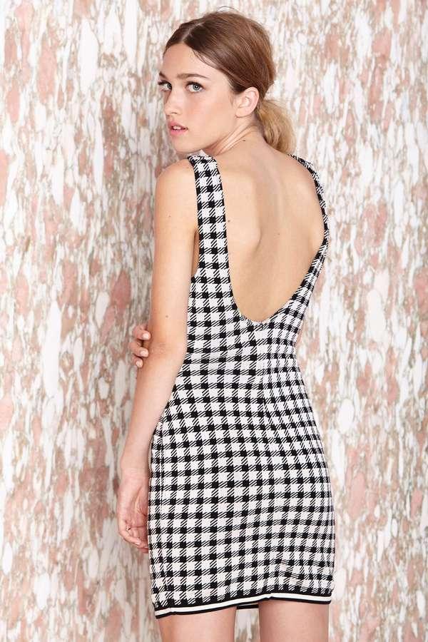 Nasty Gal Vintage Alaïa Check Up Dress