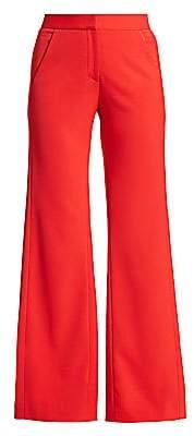 Halston Women's Back Pleat Wide-Leg Pants - Size 0