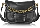 Pierre Hardy Alphaville Black Grained Leather Shoulder Bag