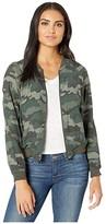 BB Dakota Can't See Me Bomber Jacket (Army Green) Women's Clothing