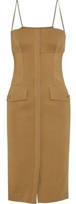 Roberto Cavalli Button-embellished Twill Dress