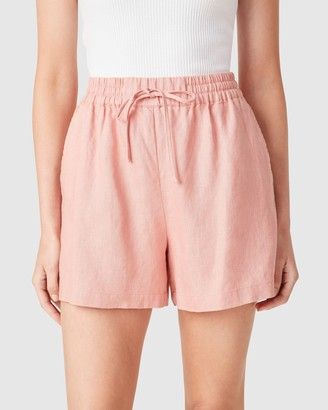 French Connection Women's Shorts - French Linen Relaxed Shorts - Size One Size, 6 at The Iconic