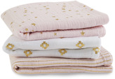 Aden Anais Aden + Anais Musy Pack of 3 Metallic Primrose And Gold
