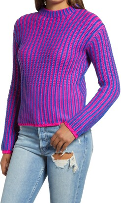 Endless Rose Stripe Mix Color Sweater