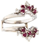 Ring 14K Ruby & Diamond Jacket