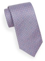 Saks Fifth Avenue Checkered Silk Tie