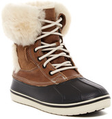 Crocs Allcast Luxe Duck Faux Fur Trim Boot (Women)