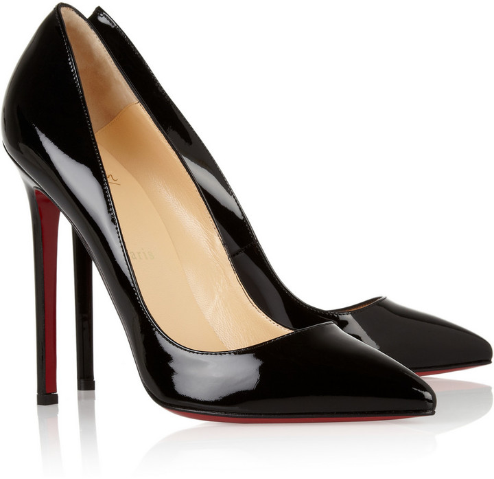 Christian Louboutin The Pigalle 120 patent-leather pumps