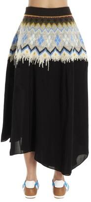 Loewe Asymmetrical Knit Detail Skirt