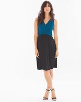 Soma Intimates Colorblock Wrap Sleeveless Dress Poseidon Blue/Black