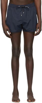 Balmain Navy Embossed Swim Shorts