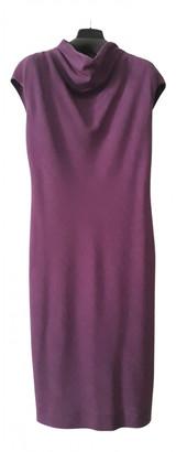 Max Mara Purple Wool Dresses
